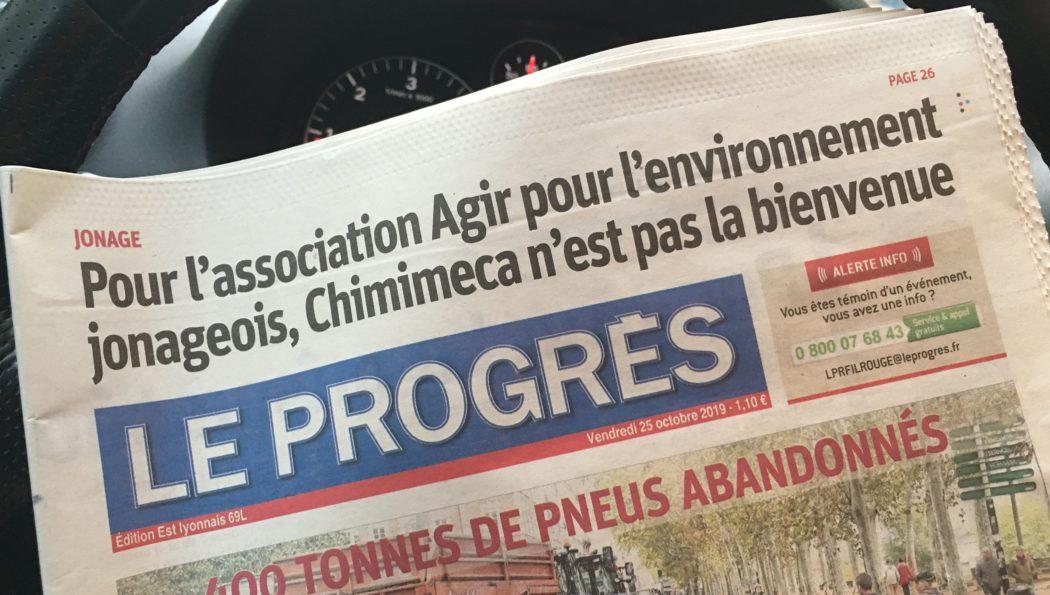 Article. Le Progrès Est Lyonnais – 25/10/2019