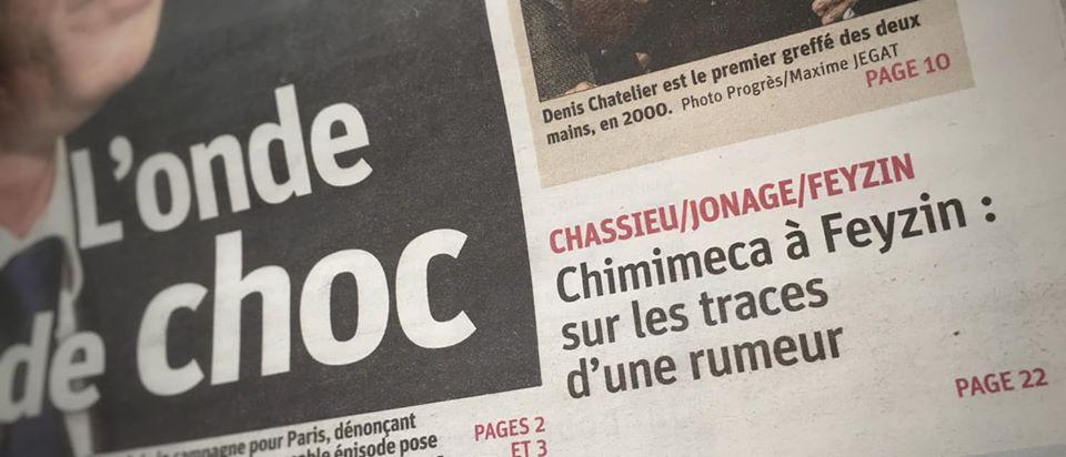 Article. Sur les traces d'une rumeur – Le Progrès – 15/02/2020