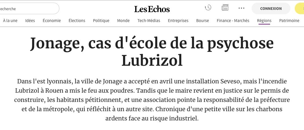 Article. Les Echos – 31/01/2020