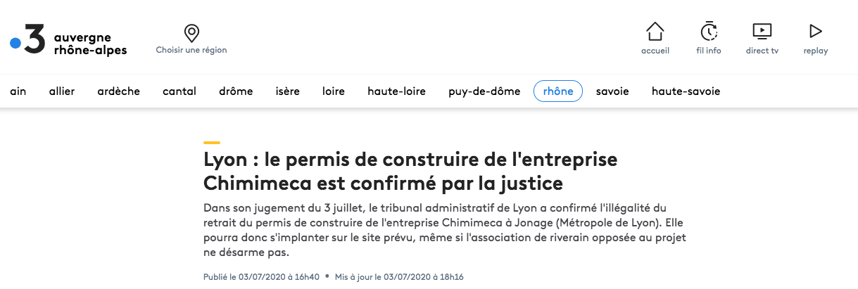 Article. France 3 – 03/07/2020