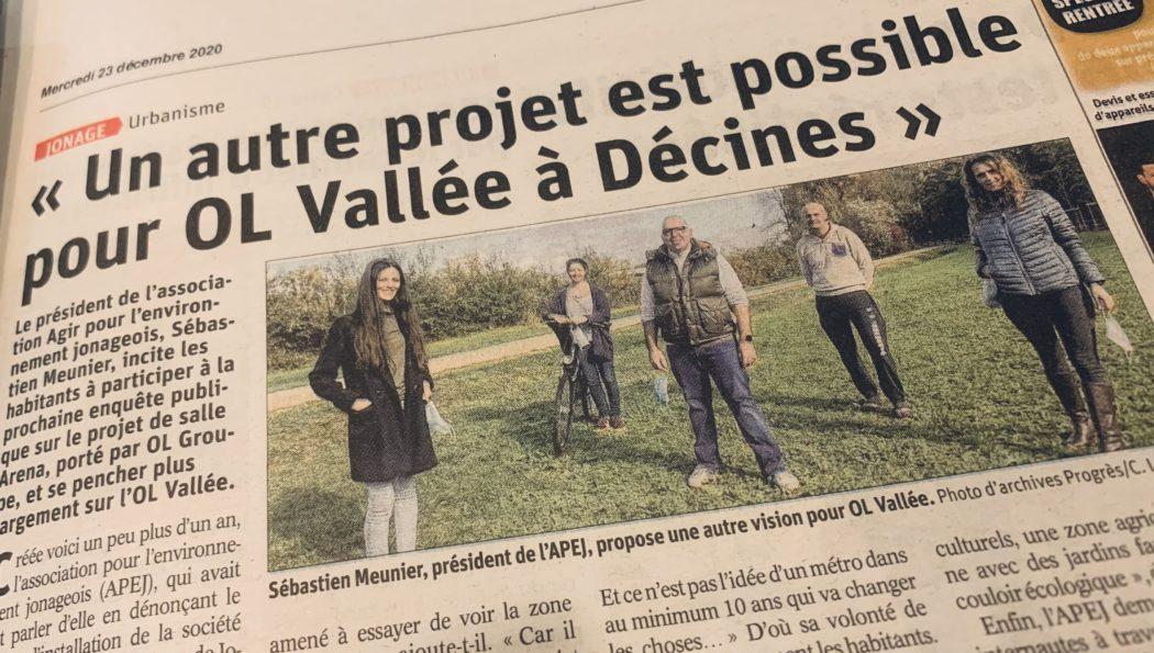 Article. Le Progrès – 22/12/2020